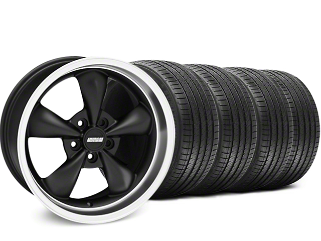 Bullitt Matte Black Wheel and Sumitomo Maximum Performance HTR Z5 Tire Kit; 17x9 (94-98 All)