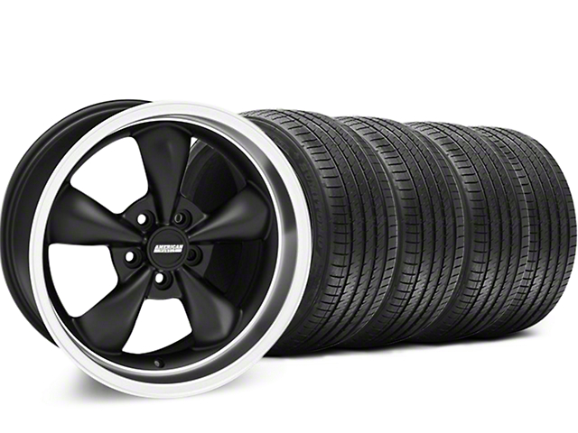 Bullitt Matte Black Wheel & Sumitomo Tire Kit - 18x9 (94-98 All)