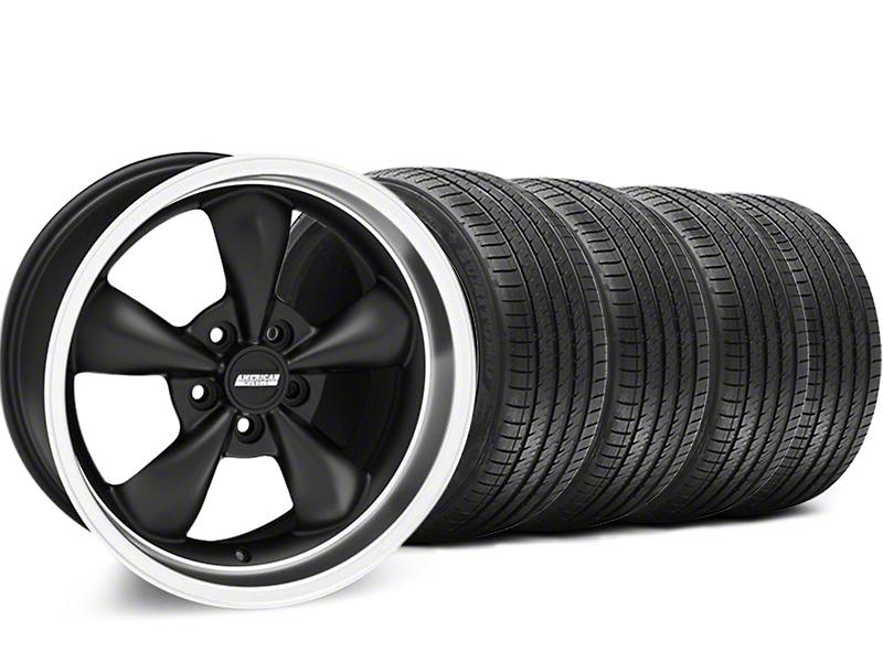 Bullitt Matte Black Wheel & Sumitomo Tire Kit - 18x9 (94-98 All)