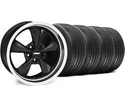 Staggered Bullitt Matte Black Wheel and Sumitomo Maximum Performance HTR Z5 Tire Kit; 18x9/10 (94-98 All)