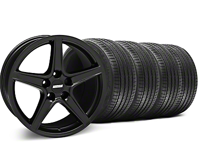 Saleen Style Matte Black Wheel & Sumitomo Tire Kit - 18x9 (05-14 GT, V6)