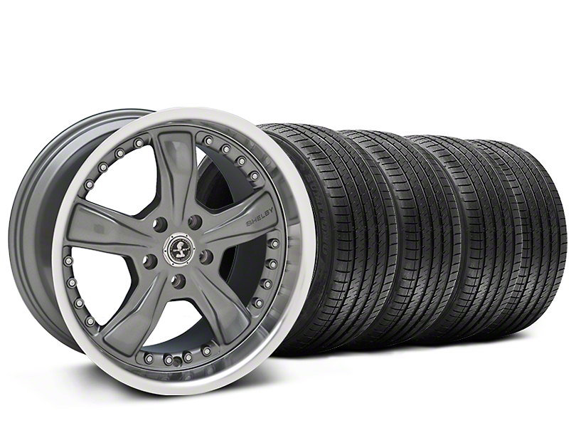 Staggered Shelby Razor Chrome Wheel & Sumitomo Tire Kit - 20x9/10 (05-14 All)