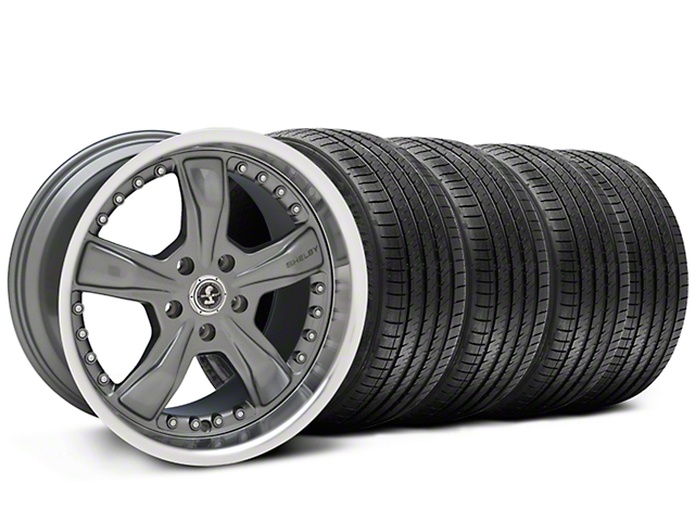 Shelby Razor Gunmetal Wheel and Sumitomo Maximum Performance HTR Z5 Tire Kit; 20x9 (05-14 All, Excluding 13-14 GT500)
