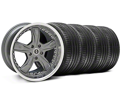 Shelby Razor Gunmetal Wheel & Sumitomo Tire Kit - 20x9 (05-14 All, Excluding 13-14 GT500)