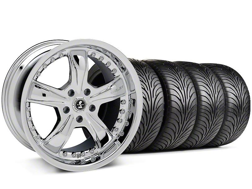 Shelby Razor Chrome Wheel & Sumitomo Tire Kit - 18x9 (94-98 All)