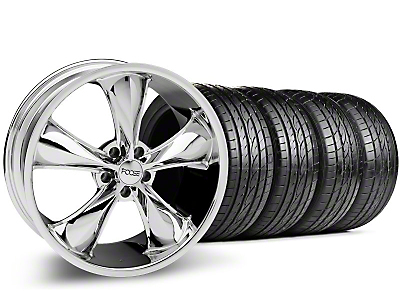 Staggered Foose Legend Chrome Wheel & Sumitomo Tire Kit - 20x8.5/10 (05-14 GT, V6)