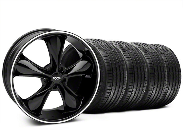 Foose Legend Black Wheel & Sumitomo Tire Kit - 20x8.5 (05-14 GT, V6)