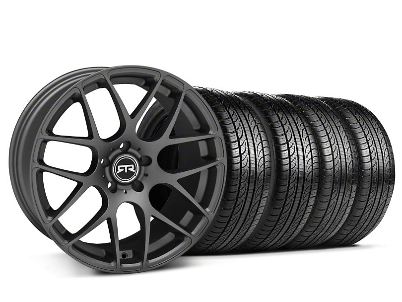 RTR Charcoal Wheel & Pirelli Tire Kit - 19x9.5 (05-14 All)
