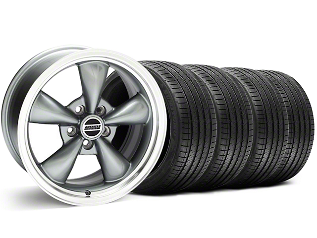 Bullitt Anthracite Wheel and Sumitomo Maximum Performance HTR Z5 Tire Kit; 18x8 (05-10 GT; 05-14 V6)