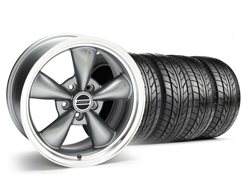 Bullitt Anthracite Wheel & NITTO Tire Kit - 18x8 (99-04 All)