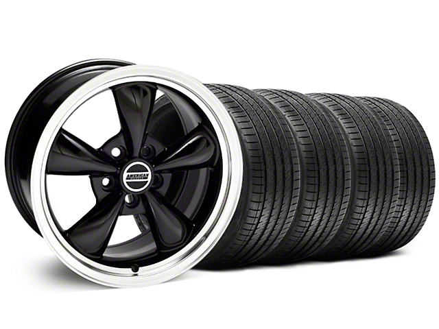 Bullitt Black Wheel and Sumitomo Maximum Performance HTR Z5 Tire Kit; 18x8 (94-98 All)