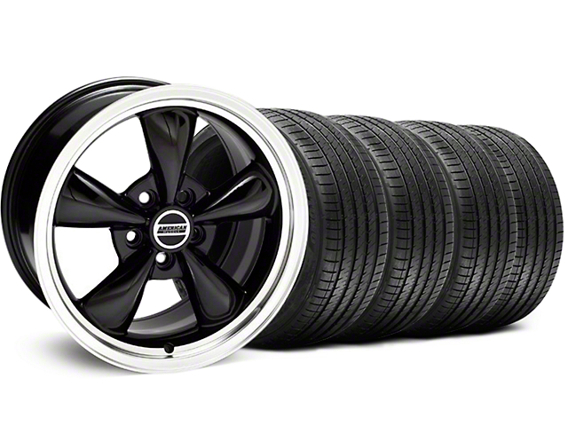Bullitt Black Wheel and Sumitomo Maximum Performance HTR Z5 Tire Kit; 18x8 (99-04 All)