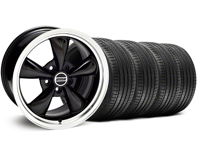 Bullitt Black Wheel & Sumitomo Tire Kit - 18x8 (05-10 GT; 05-14 V6)
