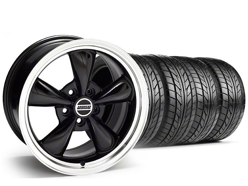 Bullitt Black Wheel & NITTO Tire Kit - 18x8 (99-04 All)