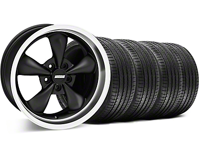 Bullitt Matte Black Wheel & Sumitomo Tire Kit - 18x8 (05-10 GT; 05-14 V6)