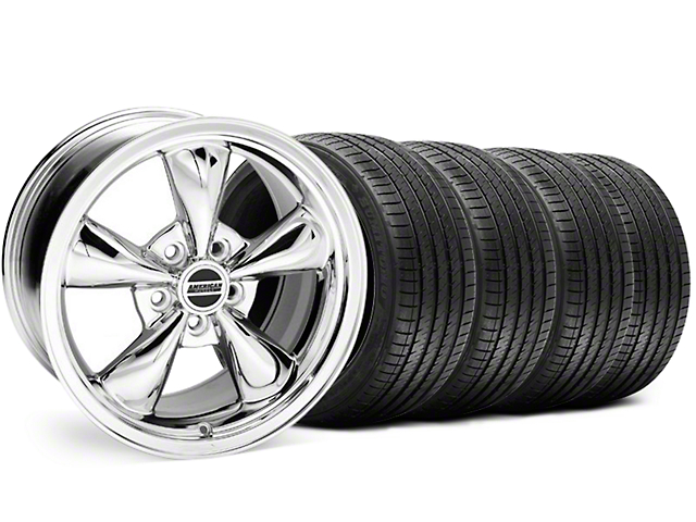 Bullitt Chrome Wheel and Sumitomo Maximum Performance HTR Z5 Tire Kit; 18x8 (94-98 All)