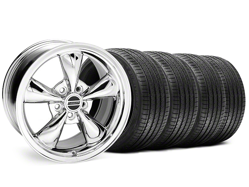 Bullitt Chrome Wheel & Sumitomo Maximum Performance HTR Z5 Tire Kit - 18x8 (99-04 All)