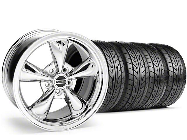 Bullitt Chrome Wheel & NITTO Tire Kit; 18x8 (99-04 All)