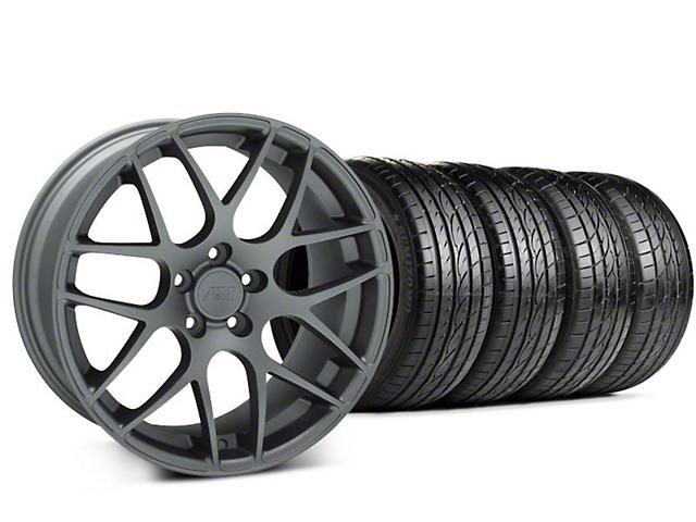 AMR Charcoal Wheel & Sumitomo Tire Kit; 19x8.5 (99-04 All)
