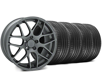Staggered AMR Charcoal Wheel & Sumitomo Tire Kit - 18x9/10 (05-14 All)