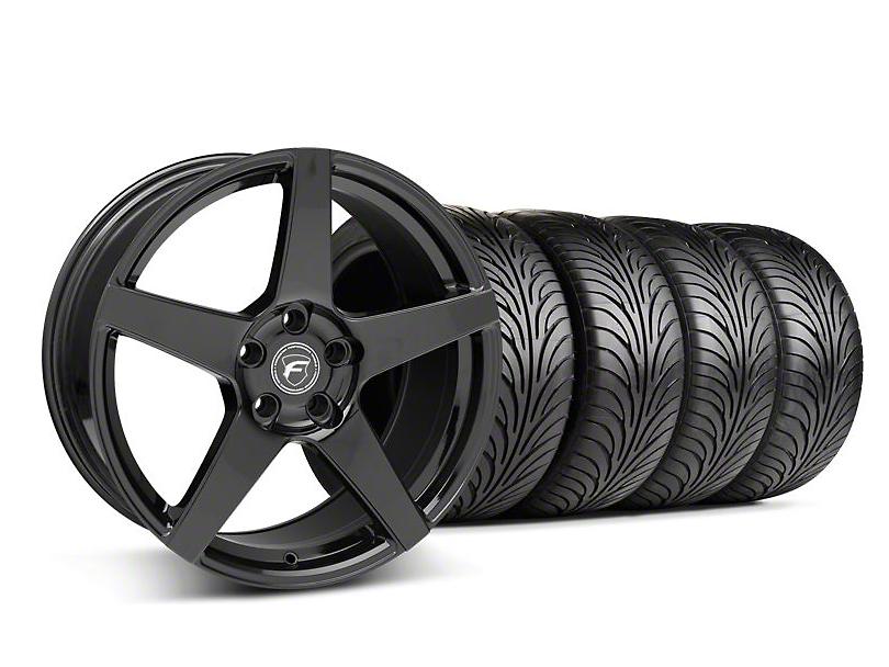Staggered Forgestar CF5 Piano Black Wheel & Sumitomo Tire Kit - 18x9/10 (05-14 All)