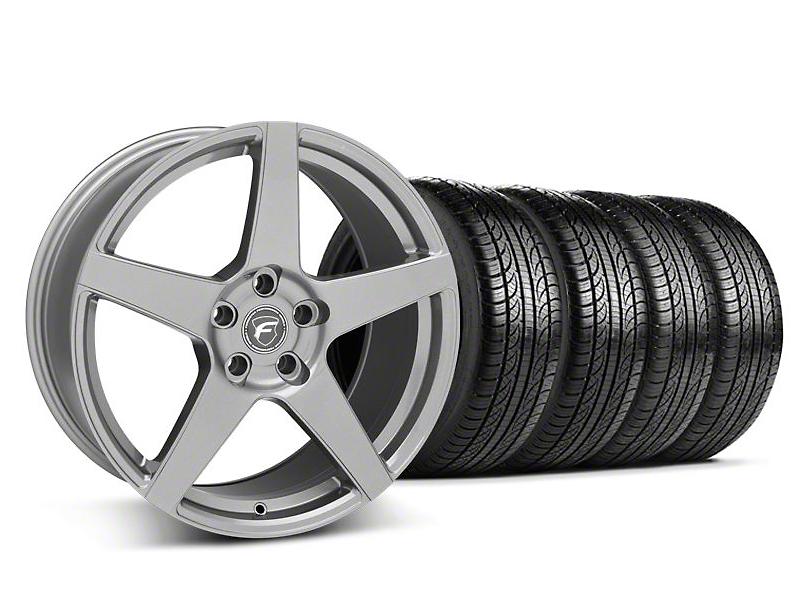 Forgestar CF5 Monoblock Gunmetal Wheel and Pirelli Tire Kit; 19x9 (05-14 All)