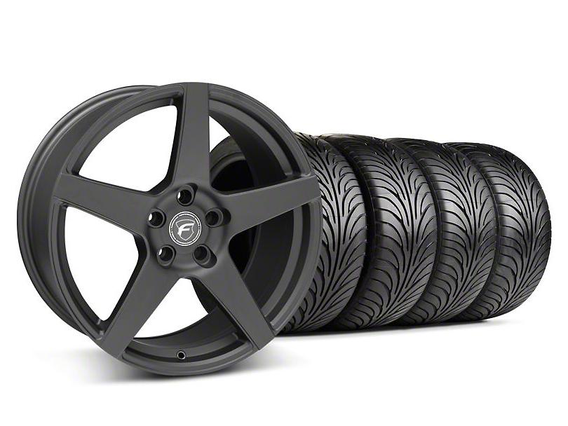 Staggered Forgestar CF5 Matte Black Wheel & Sumitomo Tire Kit - 18x9/10 (05-14 All)