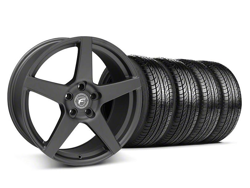 Forgestar CF5 Monoblock Matte Black Wheel & Pirelli Tire Kit - 19x9 (05-14 All)