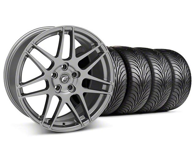 Forgestar F14 Monoblock Gunmetal Wheel & Sumitomo Maximum Performance HTR Z5 Tire Kit; 18x9 (05-14 All)