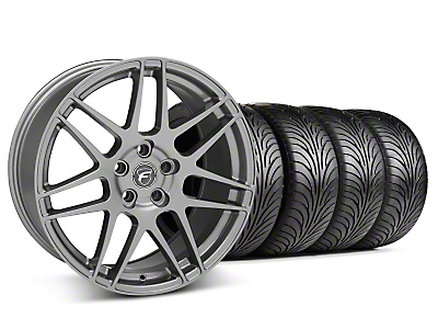 Staggered Forgestar F14 Gunmetal Wheel & Sumitomo Tire Kit - 18x9/10 (05-14 All)