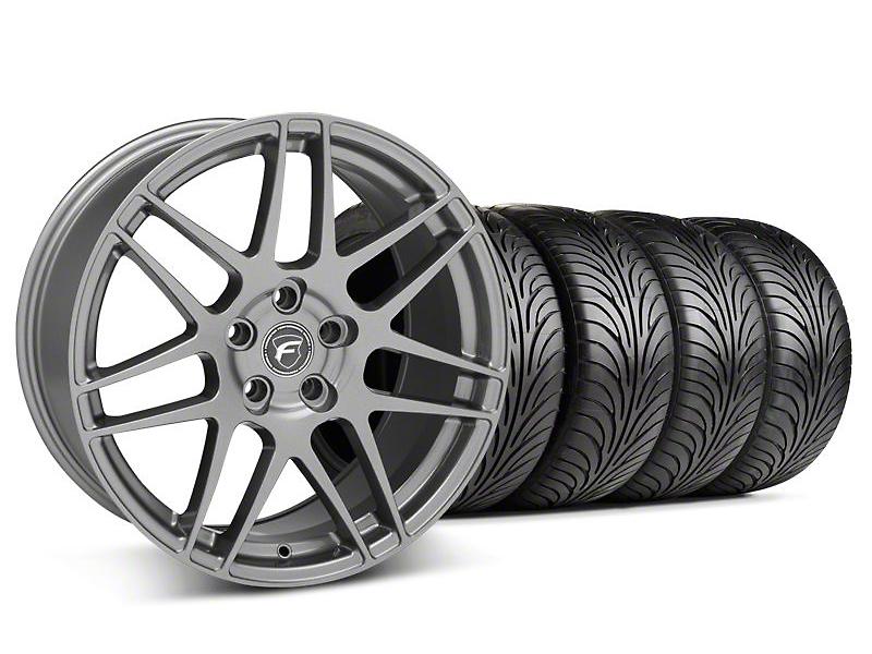Staggered Forgestar F14 Gunmetal Wheel & Sumitomo Tire Kit - 18x9/10 (05-14 All)