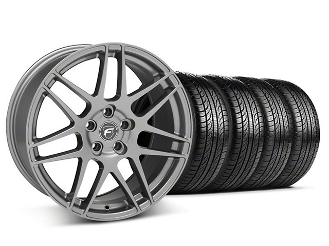 Forgestar F14 Monoblock Gunmetal Wheel and Pirelli Tire Kit; 19x9 (05-14 All)