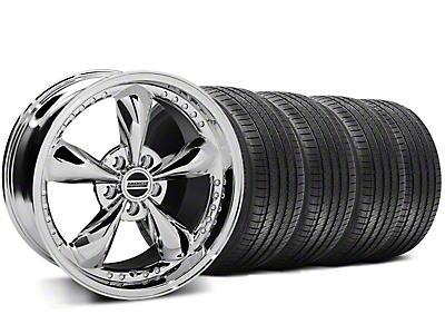 Staggered Bullitt Motorsport Chrome Wheel & Sumitomo Tire Kit - 18x9/10 (94-98 All)