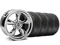 Staggered Bullitt Motorsport Chrome Wheel and Sumitomo Maximum Performance HTR Z5 Tire Kit; 18x9/10 (05-14 Standard GT, V6)