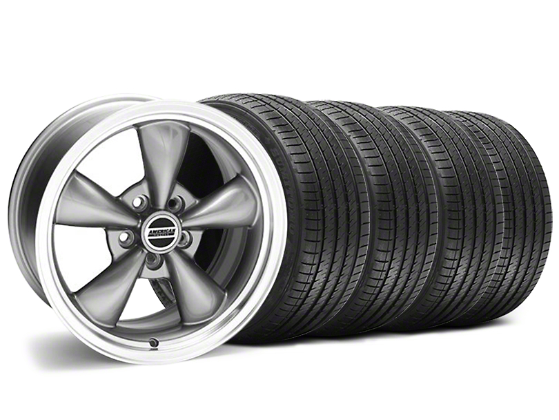 Staggered Bullitt Anthracite Wheel and Sumitomo Maximum Performance HTR Z5 Tire Kit; 18x9/10 (94-98 All)