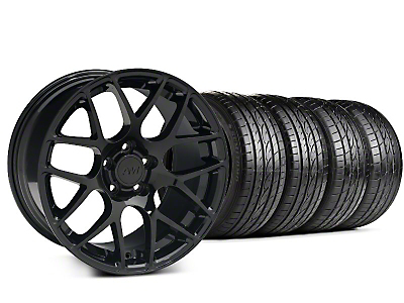 AMR Black Wheel & Sumitomo Tire Kit - 19x8.5 (99-04 All)