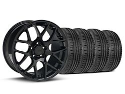 AMR Black Wheel and Sumitomo Maximum Performance HTR Z5 Tire Kit; 19x8.5 (05-14 All)