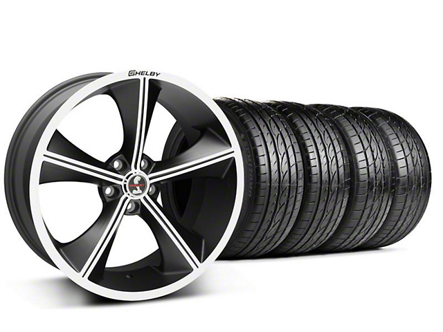 Staggered Shelby CS70 Matte Black Wheel & Sumitomo Tire Kit - 20x9/10 (05-14 All)
