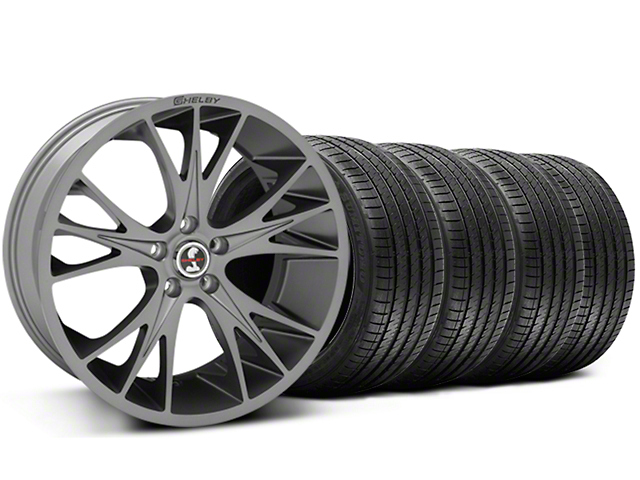 Shelby CS1 Gunmetal Wheel and Sumitomo Maximum Performance HTR Z5 Tire Kit; 20x9 (05-14 All)