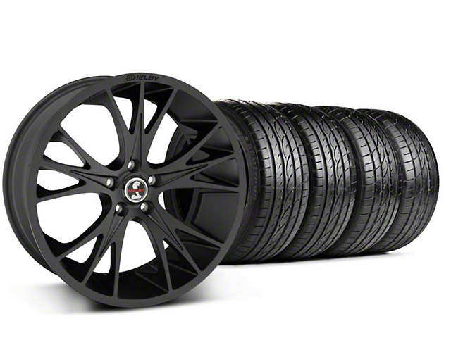Shelby CS1 Matte Black Wheel & Sumitomo Tire Kit - 20x9 (05-14 All)