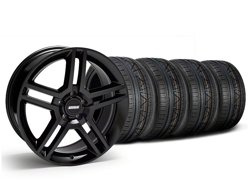 2010 GT500 Style Black Wheel and NITTO INVO Tire Kit; 19x8.5 (05-14 All)