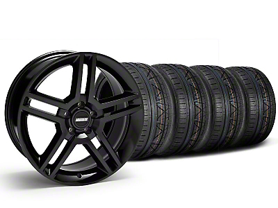 Staggered 2010 GT500 Style Black Wheel & NITTO INVO Tire Kit - 19x8.5/10 (05-14 All)