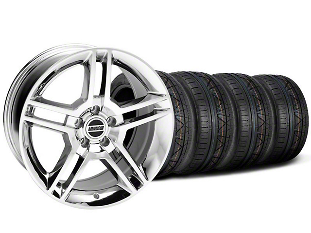 2010 GT500 Style Chrome Wheel and NITTO INVO Tire Kit; 19x8.5 (05-14 All)