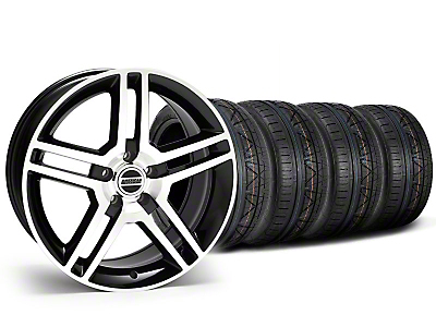 2010 GT500 Style Black Machined Wheel & NITTO INVO Tire Kit - 19x8.5 (05-14 All)