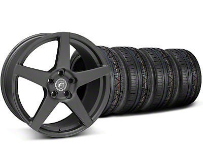 Forgestar CF5 Monoblock Matte Black Wheel & NITTO INVO Tire Kit - 19x9 (05-14 All)