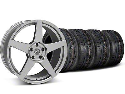 Staggered Forgestar CF5 Gunmetal Wheel & NITTO INVO Tire Kit - 19x9/10 (05-14 All)