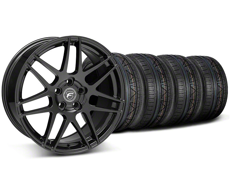 Forgestar F14 Monoblock Piano Black Wheel & NITTO INVO Tire Kit - 19x9 (05-14 All)