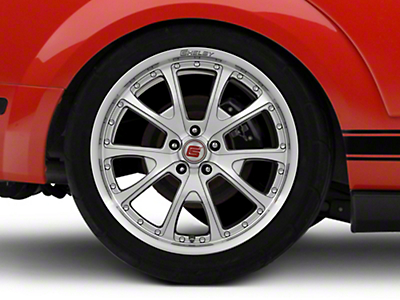 Shelby CS40 Silver Machined Wheel - 20x10 (05-14 All)