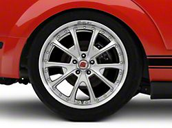 Shelby CS40 Silver Machined Wheel - 20x10 - Rear Only (05-14 All)