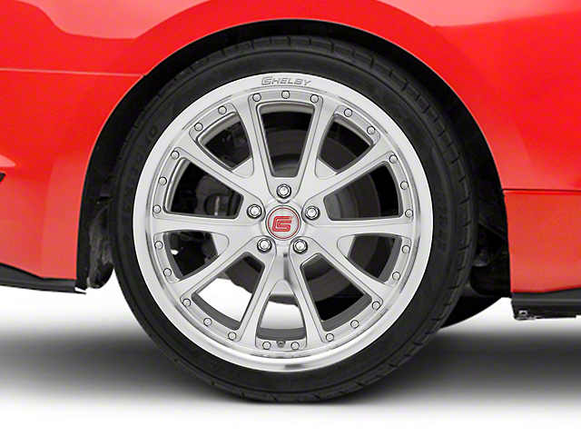 Shelby CS40 Silver Machined Wheel; Rear Only; 20x10 (15-20 GT, EcoBoost, V6)